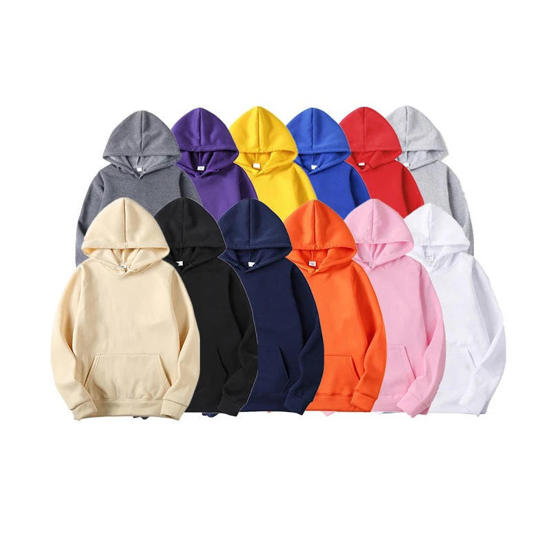 New Fashion Men Herbst Winter Hooded Street Langarm lose einfarbige Kapuze Casual Bluse Fleece Tops White Hoodies