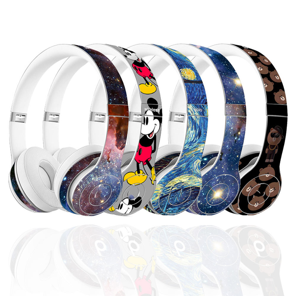 New design removable headphones protective Decal Skin earphones stickers skin for solo 2 3