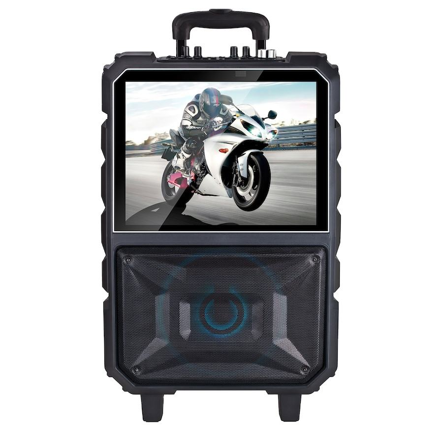 2020 neue smart system touchscreen bluetooth Multifunktions WIFI Video trolley lautsprecher mit 14 zoll karaoke party pa lautsprecher