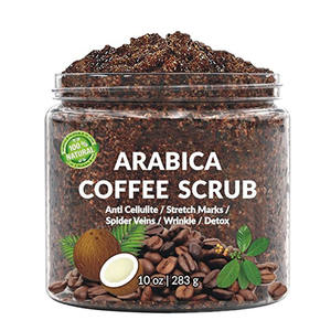 100% Naturale Anti Cellulite e Smagliature Esfoliante Rimuovere La Pelle Morta Arabica di Caffè Scrub Corpo Private Label