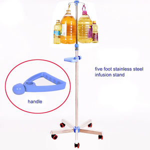 Hospital bed accessories movable iv pole stand iv drip pole infusion stand