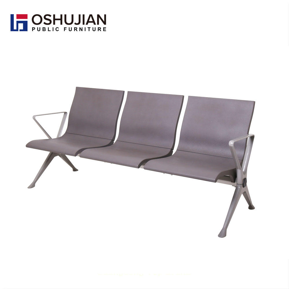 Cheap pu for airport seating waiting chair with foam
