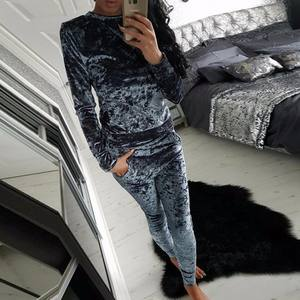 Ready To Ship Wholesale Latest Design Velour Tracksuit