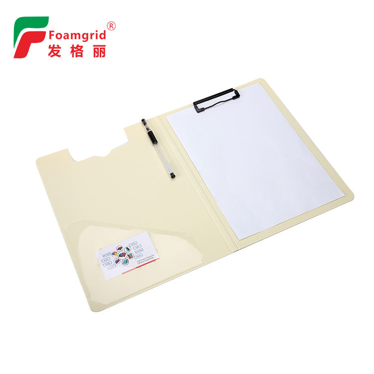 High quality waterproof clipboard A5 size double sided clip board folder with pocket