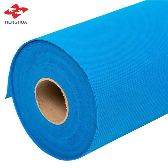 20/25/30/50/60/70/80/90 gsm Nonwoven Technics blue color 100% PP spunbonded nonwoven fabric