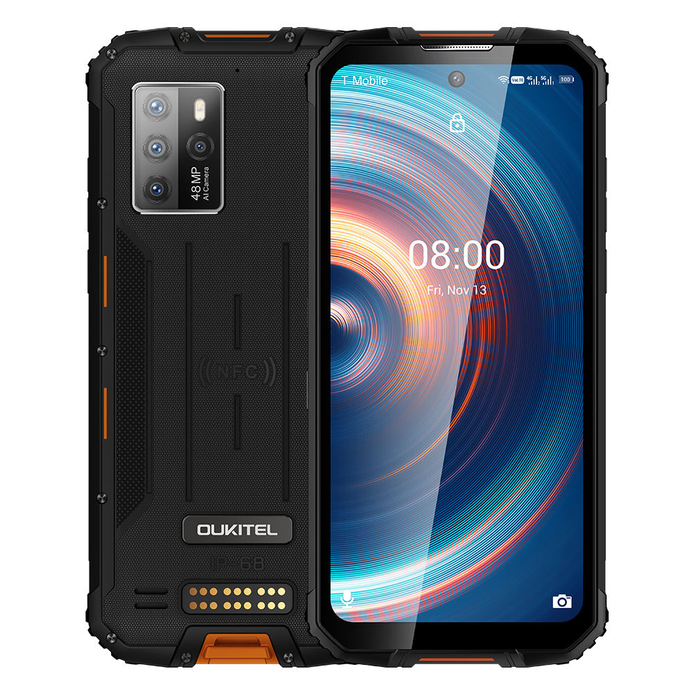 OUKITEL WP10 5G Rugged SmartPhone Global Version 8GB + 128GB 8000mAh 6.67 INCH FHD FullScreen MeditaTek 48MP Quad Came