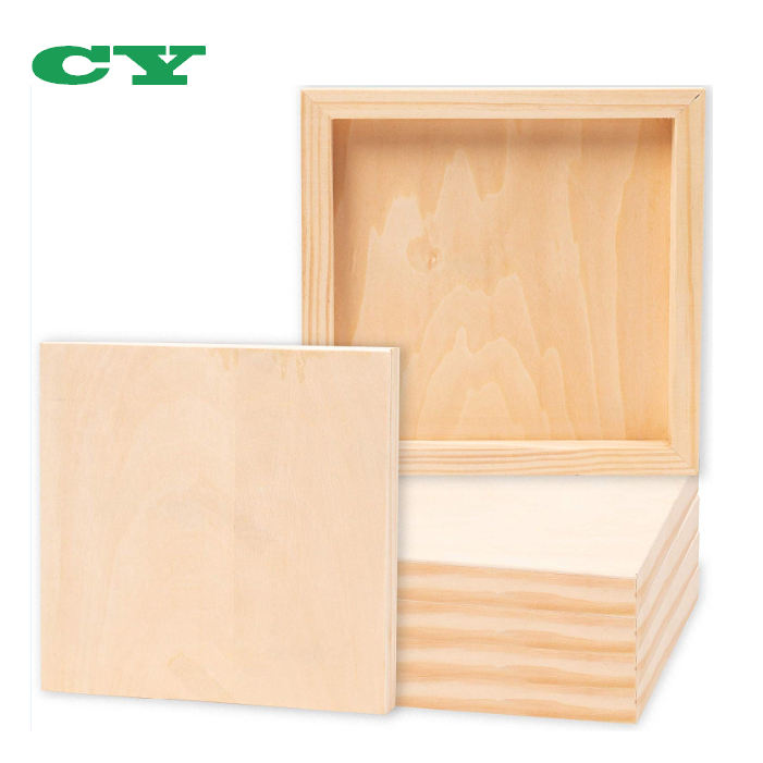 Arts and Crafts Unfinished Wood Canvas Cradled Panel Boards for Painting Or Drawing