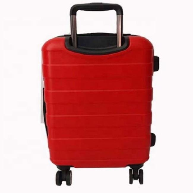 Red Wedding 24 Inch Travel Suitcase Big Trolley Case ABS Material Luggage Case