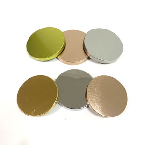 85mm 79mm wholesale all size aluminum manufacturer custom logo rose gold silver tin metal lid for glass ceramic candle jar