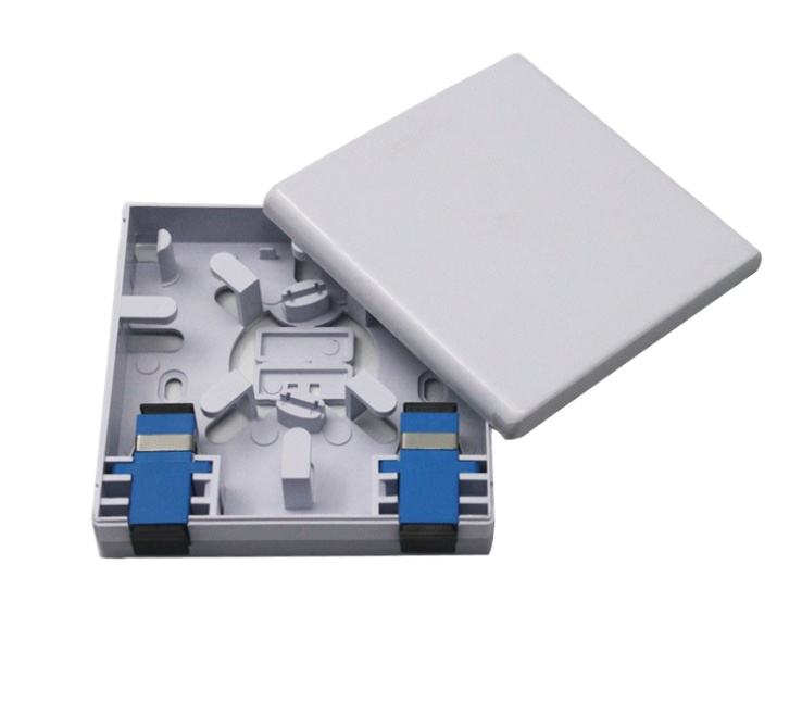 atb box White small plastic sliding type FTTH 2 core fiber optic atb box
