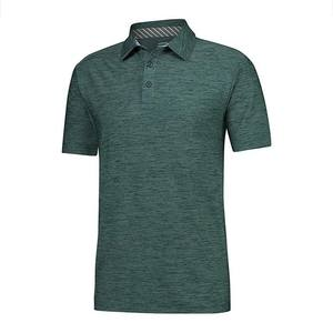 Custom High Quality Recycled Polyester and Spandex Turtleneck Polo Shirt Custom Mens Slim Fit Golf PoloT-Shirt
