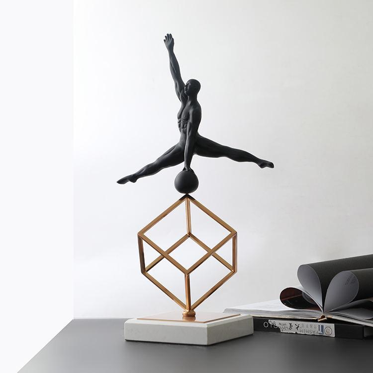 Современная Гостиная черный декоративные элементы артефакты домашний декор метала роскошный элегантный стиль