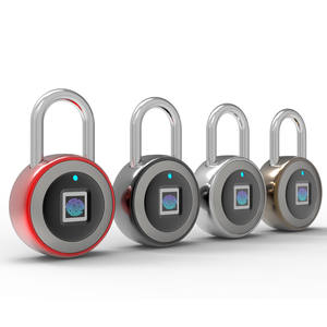 Smart fingerprint padlock with 10 groups of fingerprint capacity  mobile APP unlock  support remote authorization unlock