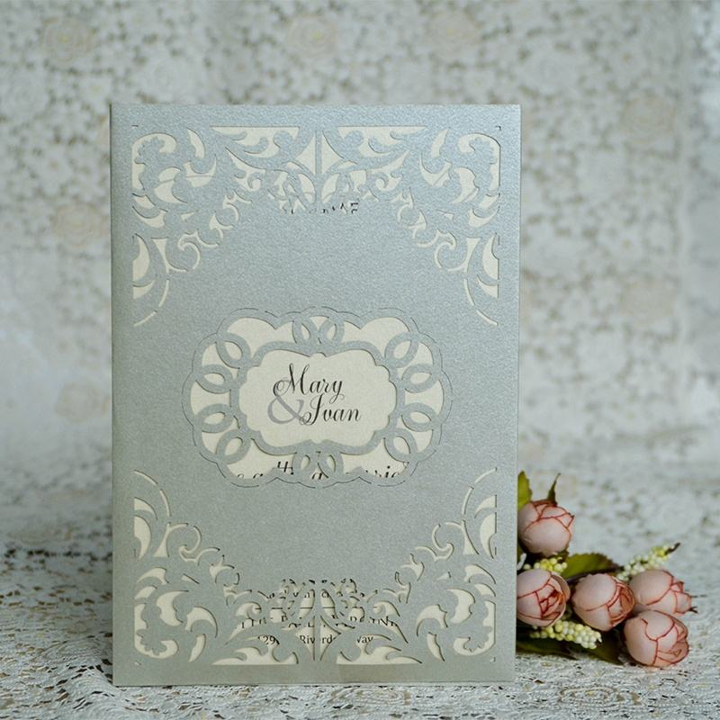 High quality latest indian invitations card pocket laser cut wedding invitations