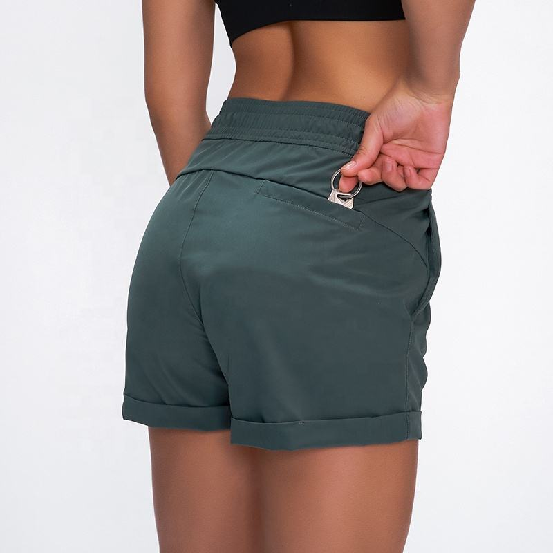 Wholesale Loose Fit Elastic Band Dry Fit Running Shorts Pants with Pocket