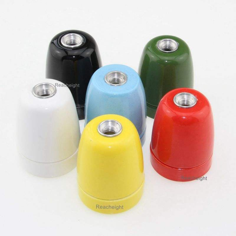 Wholesale High Quality Colorful E27 Porcelain Lamp Holder