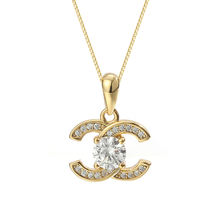 Damila Hot Selling Necklace CZ 925 Sterling Silver Gold Plated Zircon Letter Pendant for Women