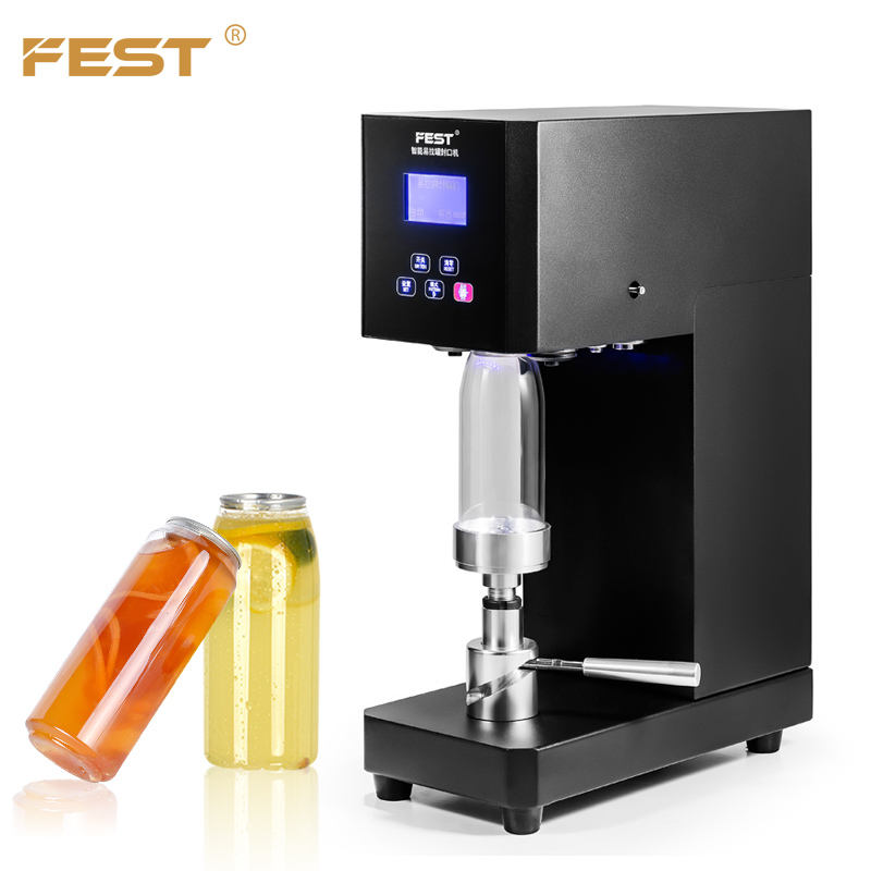 Table Standing Cans Sealing Machine PET Bottle With Aluminum Lid Seamer Machine Beer Bubble Water Plastic Bottle Sealing Machine