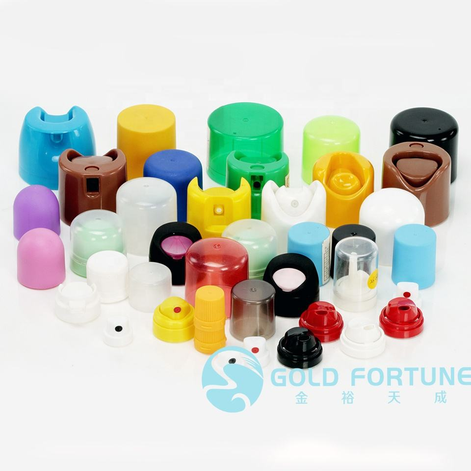 actuator plastic screw cap for aerosol bottle metal can