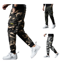 2020 Newest Cotton Snow Camo jogger Mens Casual Pants Multi Pocket Camouflage Cargo Pants