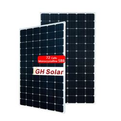 GH SOLAR Tier 1 12BB 72 Cells 380W Monocrystalline Perc Solar Plate Manufacturer Directly Supply Module
