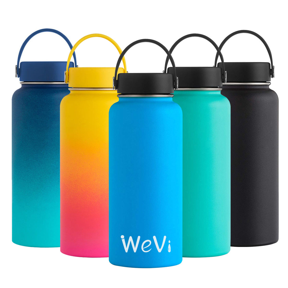 Wevi High quality double wall vacuum insulated stainless steel sport water bottle with straw wholesale