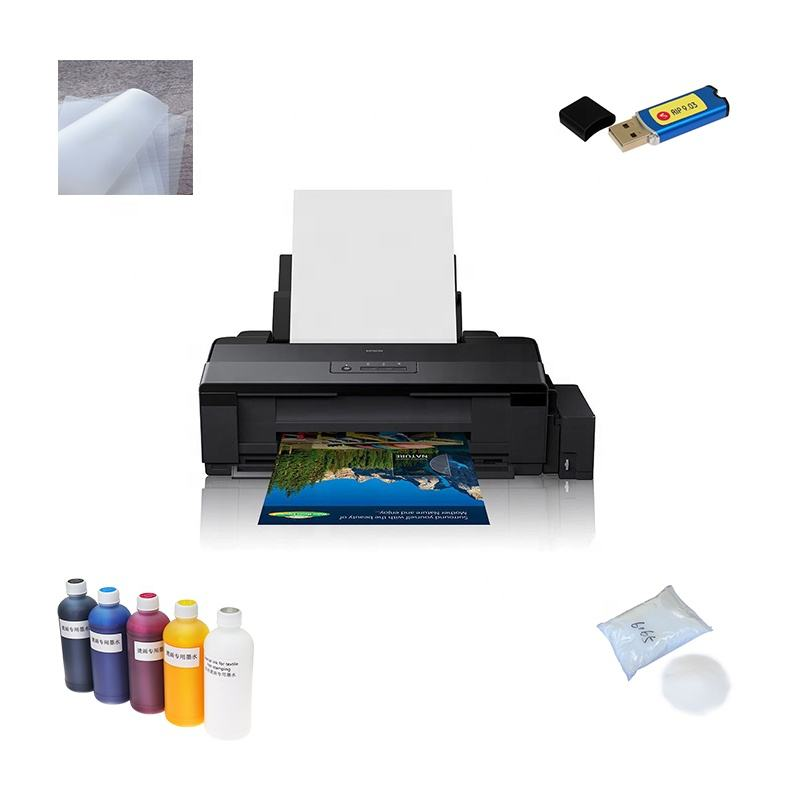 Jetvinner A3 Warmteoverdracht Huisdier Film T-shirt Dtf Printer Met Schudden Poeder Machine Dtf Printer Voor Epson L1800