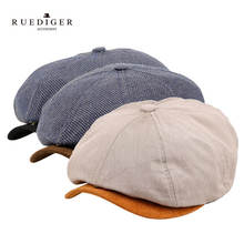 Wholesale Custom High Quality Various Colors Materials Shape Men Women Newsboy Cap Octagonal Hat