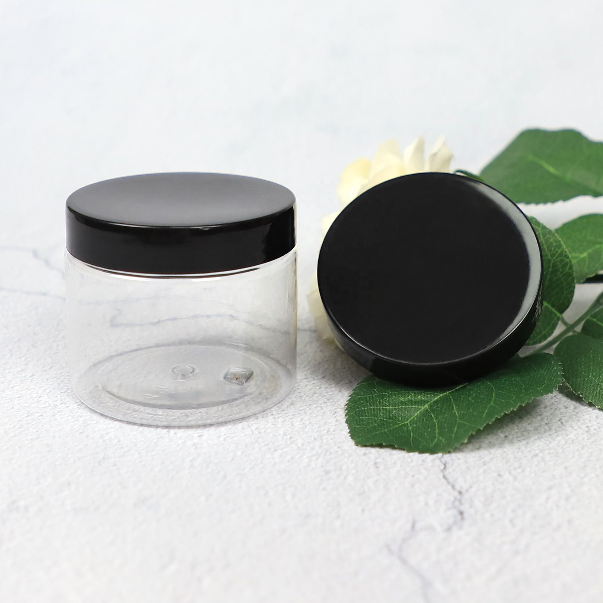 63/400 Black Plastic PP Cosmetic Jar Cap