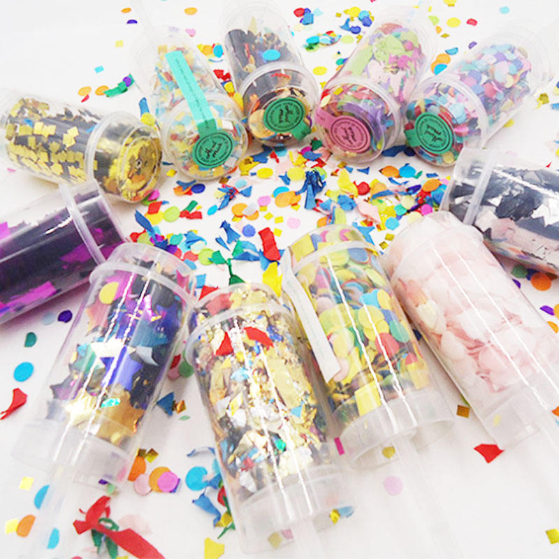 Foil paper confetti Push Pop cake push popper birthday wedding party favor