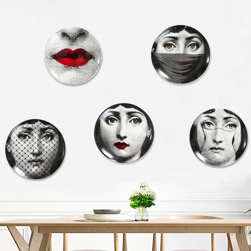 25cm Lina Cavalieri dish decorative dish model room kitchen European-style Milan Facebook dish wall hanging decorations