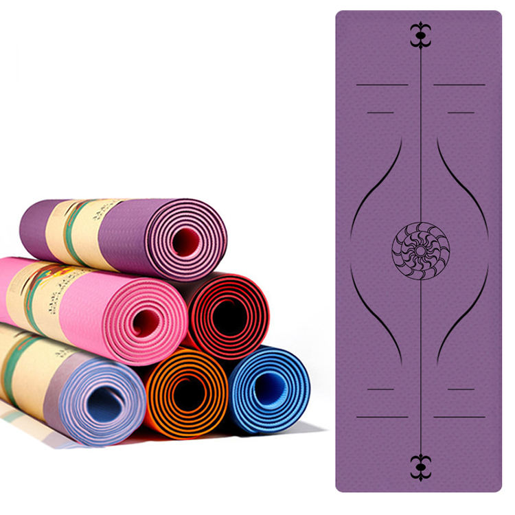 Professional eco-friendly non slip design exercise gym fitness 6mm custom tpe yoga mat
