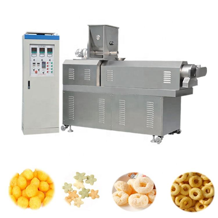 namkeen snack food puffed rice production line price twin screw extruder for snacks