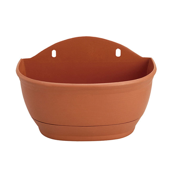 Save 10% free sample premium garden bed corner ecofriendly plastic wall hanging semicircular flower pots planters