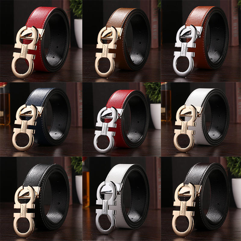 Best selling Fashion men belts genuine cow leather automatic buckle belt