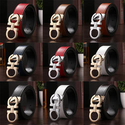 Best selling Fashion men belts genuine cow leather automatic