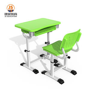 Ergonomic Flexible PP school furniture ergonomic student desk and chair