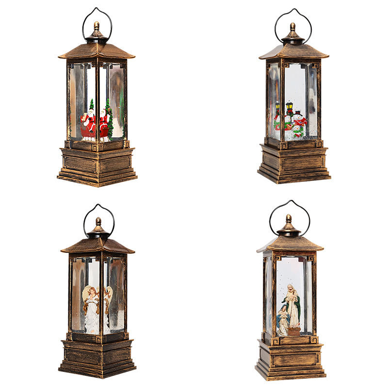 Christmas Valentine's Day music box Christmas LED nightlights wishes wind lanterns decorations in church windows