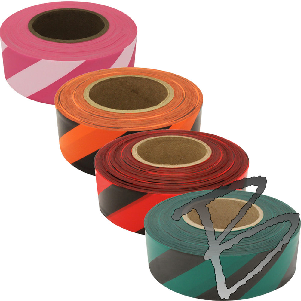 High Quality PVC Tape Custom Color Tape Printed Flagging Tape with Stripped and Dotted