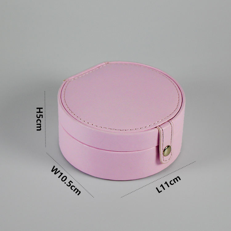 High quality Customized PU velvet ring earrings jewelry box pink green jewelry gift boxes