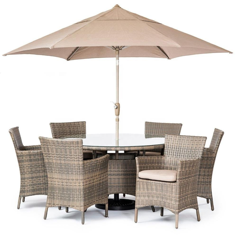 Audu Rattan Restaurant Dining Table And Chair