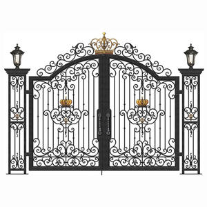 Wrought Iron Gate Grill Entrance Door Designs Prices Luxury Villa Main Gate