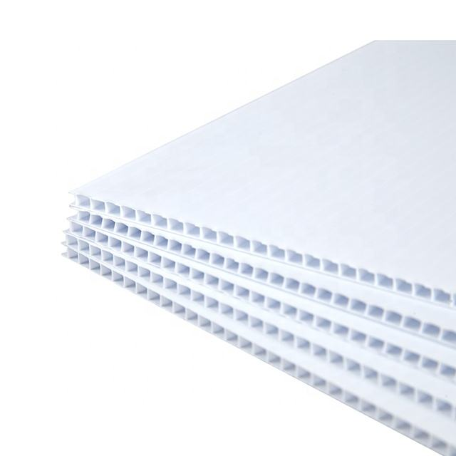 4mm White 4'x8' 48''x96'' Blank Corona PP Corrugated Plastic Sheet Coroplast For Signs Board