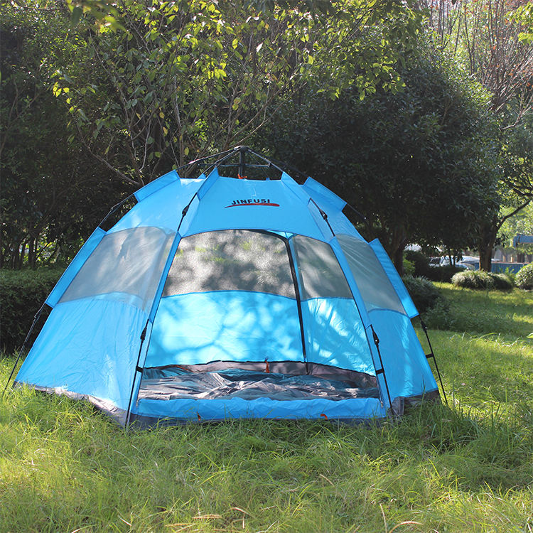 JUNFUSI Wholesale Automatic Waterproof 5-8 Person Outdoor Camping Tent,Large Dome Tents in Stock
