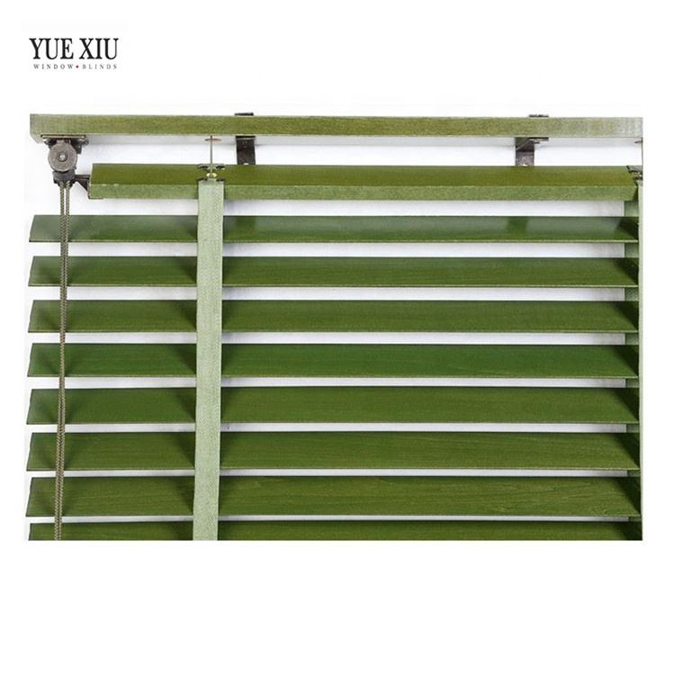 Direct Manufacturer Multiple Colour Inner Window Wood Venetian Blackout Blind Slats
