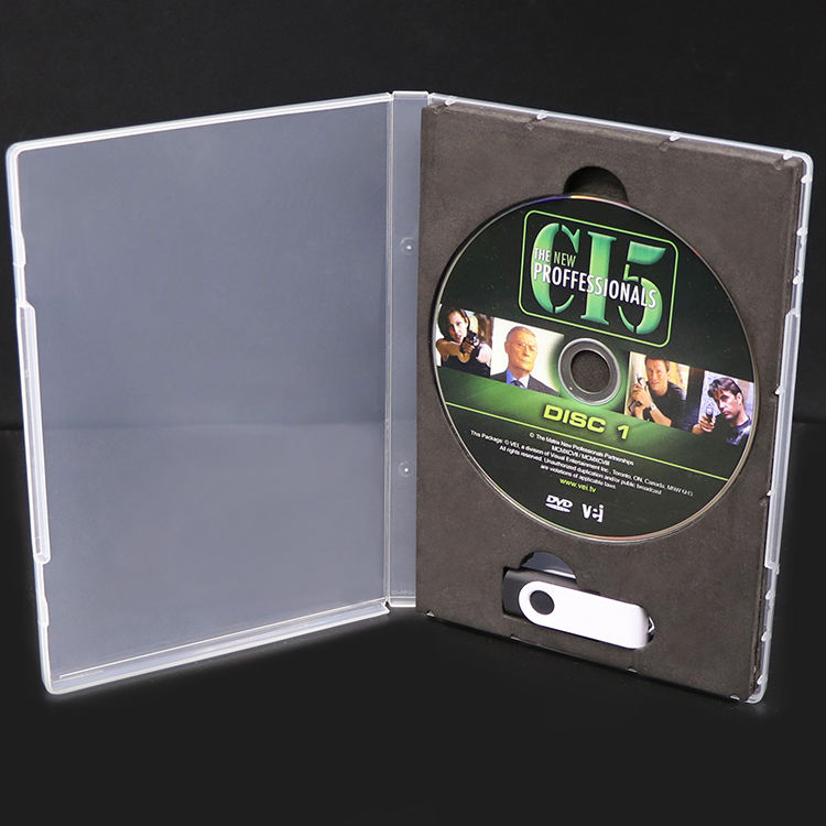Plastic PP Box Blank CD DVD USB Holder Covers CD Multifunctional Case
