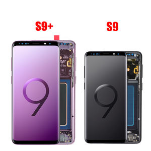 AMOLED LCD Ersatz Für SAMSUNG Galaxy S9 G960 LCD Touch Screen Digitizer S9 + S9 Plus G965 LCD Display Mit rahmen Montage