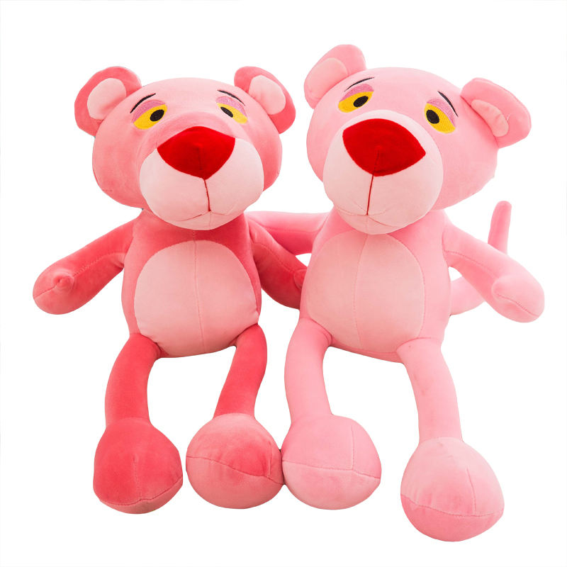 fashional cute kids playing sitting plush animal gifts sale pink panther stuffed toy