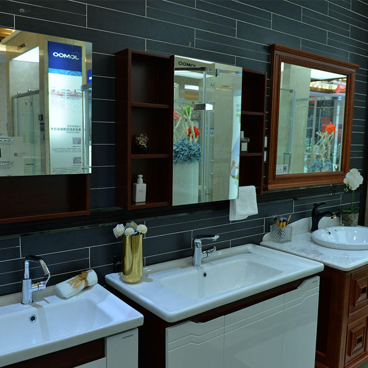 Bathroom Wooden Furniture Mirrored Cabinets Pvc Bathroom Cabinet