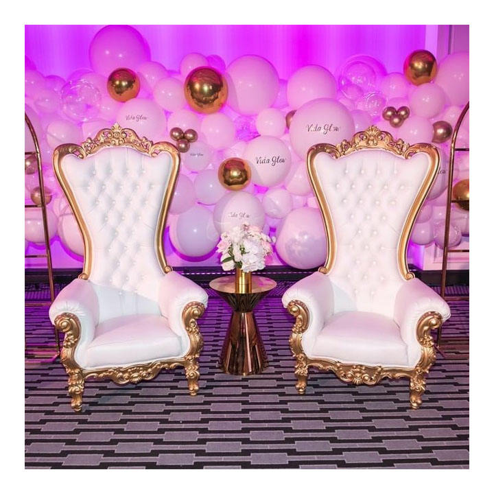 Hot sale chairs for wedding reception and custom wedding throne chairs for bride and groom*